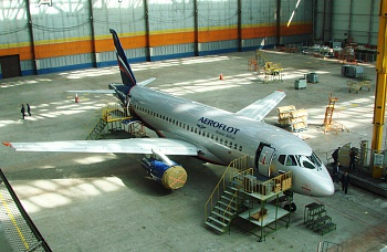 "The JSC ""Aviastar-SP"" has completed the interior mounting at the next SSJ 100 for the JSC ""Aeroflot"""